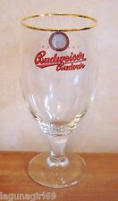 Budweiser Budvar Czech Lager Beer Stemmed Pint Glass Pub Home Bar Unused M15