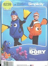 Simplicity 8239 Child's FISH COSTUME Sewing Pattern Finding Nemo Dory Halloween