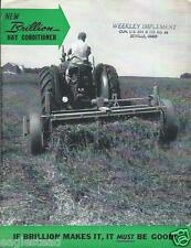 Farm Equipment Brochure - Brillion - Hay Conditioner  (F3998)