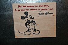Mickey Mouse Cherry Wood Dreams can Come True Magnet American Made/ Homemade