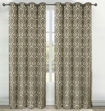 Grand Atelier CYBER Jacquard Ring top Eyelet Curtain PAIR - 2 x 140cm x 221cm