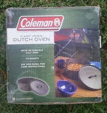 Coleman Cast Iron Dutch Oven Durable Cast 7.5 Quarts 2000007763 NEW