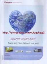 "Pioneer ""Sound.Vision.Soul"" 2001 Magazine Advert #2622"