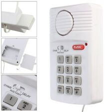 Security Keypad Door Alarm System for Doors Shed Garage Caravan & Panic Button