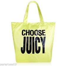 Juicy Couture Neon  Fold Up Shopping Tote Shopper Bag Shoulder Bag  NWT