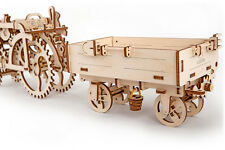 UGears Trailer mechanical wooden model KIT 3D puzzle Assembly, Self-propelled