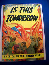 1947 * IS THIS TOMORROW ? #1 #nn * CG Comics est 9.2 NM- * Rare WHITE Pages !!!!
