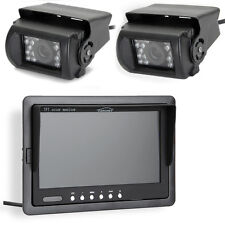 "7"" TFT Car Rear View Monitor IR Reverse 18 LED Night Version Camera + 2x Cable"