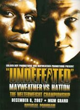 2007 FLOYD MAYWEATHER JR. vs RICKY HATTON WORLD TITLE PROGRAMME