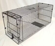 "Coyote,Dog,Racoon,Armadillo, Fox Trap-42""x18""x16"" - Collapsible Live Animal Trap"