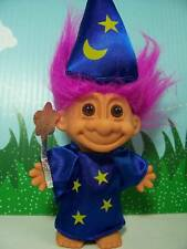 "WIZARD - 5"" Russ Troll Doll - NEW IN ORIGINAL WRAPPER - Fuchsia/Magenta Hair"