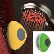 HotelSpa® 7-Setting 7-Color LED Handheld w/ Green Bluetooth Shower Speaker