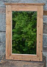 "24 3/4"" MAPLE BARNWOOD MIRROR HANDCRAFTED w/150yr OLD RECLAIMED LUMBER  #AD10"
