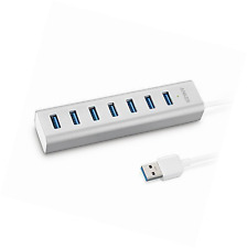 Anker® Unibody USB 3.0 7-Port Aluminum Hub with Built-in 1.3ft USB 3.0 Cabl