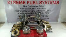 RECO TWIN STROMBERG CARBS +NEW INTAKE MANIFOLD POLISH FINISH SUIT HOLDEN ENGINE