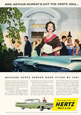 1959 Hertz Rental Car Chevrolet - Vintage Advertisement Car Print Ad J472