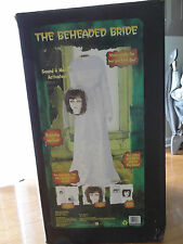 VIDEO! Gemmy Animated Beheaded Bride Wife Life Size Talking Sound Halloween Prop
