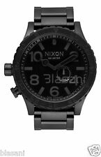 Nixon Original 51-30 Tide A057-001 All Black Stainless Steel 51mm Watch