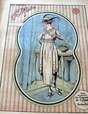 VTG 1910s PARIS FASHION & SEWING PATTERN MAGAZINE LA MODE 1918 +TRANSFER PATTERN