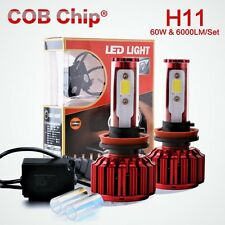 CANBUS Cree LED Headlight Kit H8 H9 H11 60W 8000K 6000LM Bulbs Pair HID smd