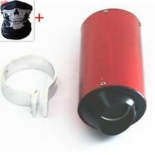 Motorcycle 38mm Exhaust Muffler & Clamp Removable Silencer Pit Dirt Bike ATV RED