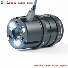 Nanoha 4x-5x Super Macro Lens for Sony Nex 7/6/5N/5T For E mount With Led lights
