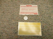Walthers  decals HO Specialties D450Y Combination stripes yellow  M72