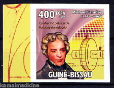 Guine Bi. MNH Imperf, Micheal Faraday, Inventions of electromagnetic rotar- In29