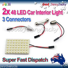 2x48 LED 3528 SMD Carvan Interior Ceiling Lights Panel 1210 BA9S Dome Festoon