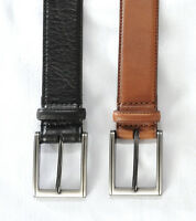 "Mens 35mm Black or Tan Full Grain Effect  Recon Leather Suit Belt  32""-56"""