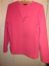 LANDS' END Pink 100% Polyester  Lightweight Fleece Pullover SZ M 10-12