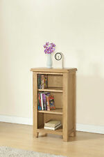 SOLID CHUNKY WOOD RUSTIC OAK SMALL NARROW BOOKCASE DISPLAY UNIT