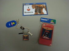 New Boxer Dog 3 Piece Lot Key Chain Car Magnet Phone Case #39