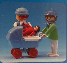 Playmobil Vintage  (2) Women, Stroller, and Infant  - Collector - NEW