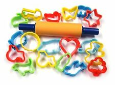 Pack of 16 Play Dough Play Doh/ Biscuit Cutters  Assorted Shapes  & Colour