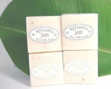4x60g Rice Milk Natural Collagen Soap Whitening Acne Face Body Skin Allergy Care