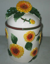 Sunflower Ceramic Round Cookie Jar Canister