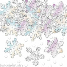 4x Christmas Snowflakes Confetti Table Sprinkles IRIDESCENT