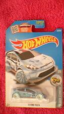 "Hot Wheels - US Card - #157 '12 Ford Fiesta - Metallic Light Blue ""28"""