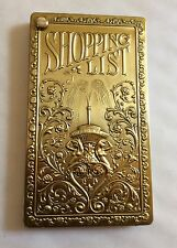 REPLICA  EDWARDIAN STYLE  BRASS SHOPPING LIST / NOTEPAD- FAB LAST ONES-  NEW