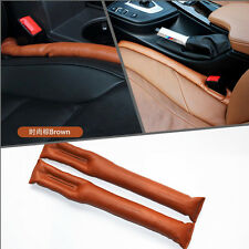 Car Brown PU Leather Seats Side Seam Gap Filler Stop Holster Leakproof For BMW
