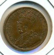 1918 CANADA LARGE CENT, ALMOST UNCIRCULATED, TRACE OF RED, GREAT PRICE!