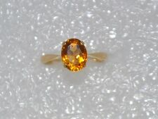 9ct Gold Topaz Ring-  Hallmarked  - Size O