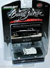 Greenlight Auction Block 1967 DODGE CORONET R/T convertible - darkgreen - 1:64
