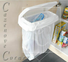 WHITE CARRIER BAG BIN HOLDER - NEW