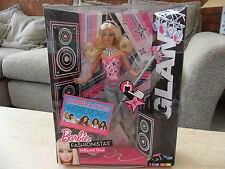 Mattel barbie fashionistas hollywood diva chante et s'allume glam new in box