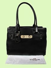 COACH 36488 SWAGGER CARRYALL Black In Pebble Leather Tote Bag  Msrp $395.00