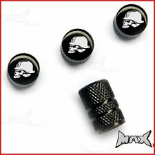 METAL MULISHA Set Of 4 Lasered Logo Wheel Tyre Valve Caps