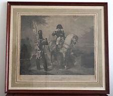Gravure de Napoleon par Maile d'après une oeuvre de Charlet - 19e Siècle