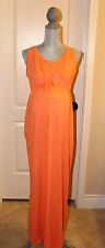 NWT GAP Maternity  Orange Tie Maxi Tank Dress Size Medium